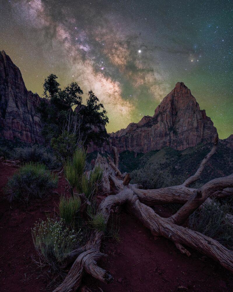 صورة بعنوان الحارس، للمصور براندت رايدر، الحاصلة على جائزة مسابقة تصوير مجرة درب التبانة لعام 2021