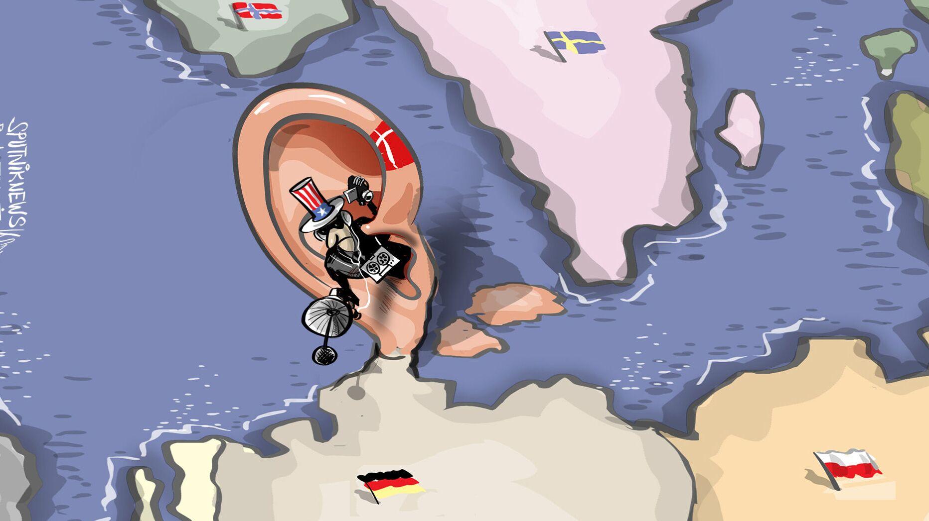 أمريكا استفادت من الدنمارك في التجسس على ميركل