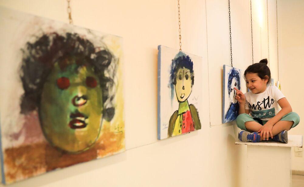 معرض الفنان الصغير السوري ريان العبد