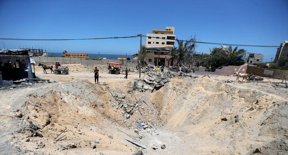 انفجار في قطاع غزة