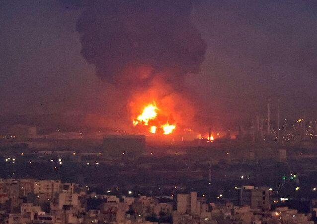 انفجار في مصفاة نفط في طهران