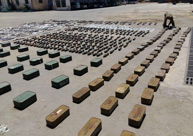 ضبط الأسلحة في ريف حمص