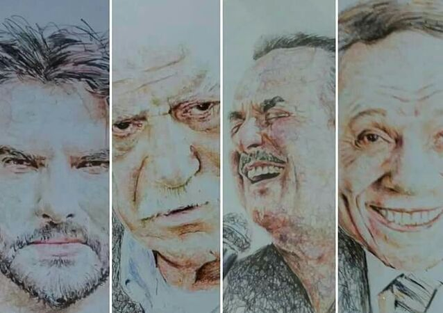 لوحة من تنفيذ الرسام السوري حسام قنديل