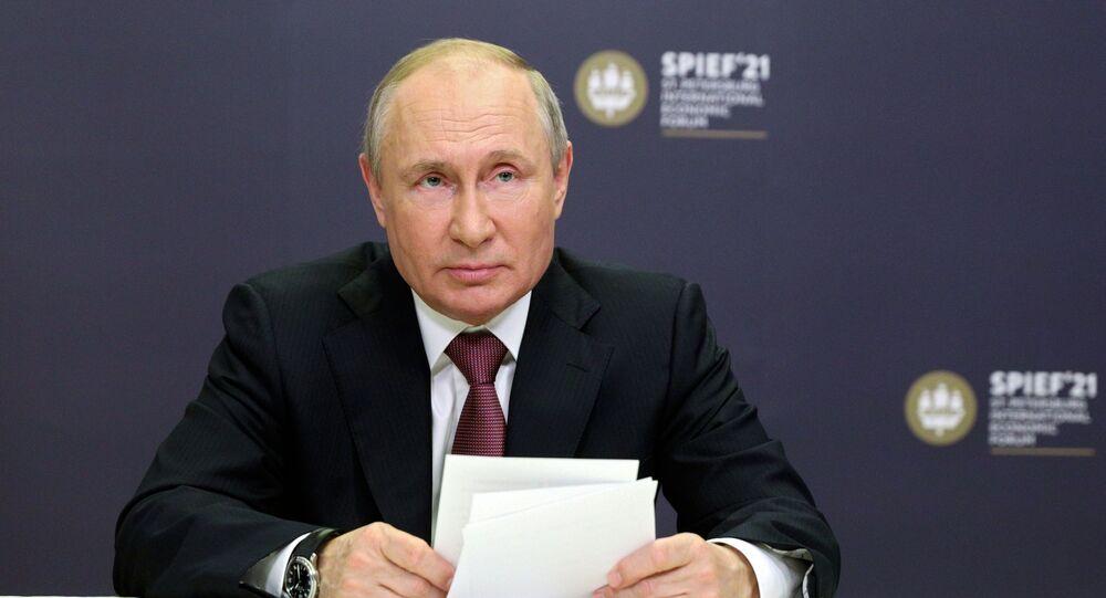 فلاديمير بوتين في منتدى سان بطرسبورغ 2021