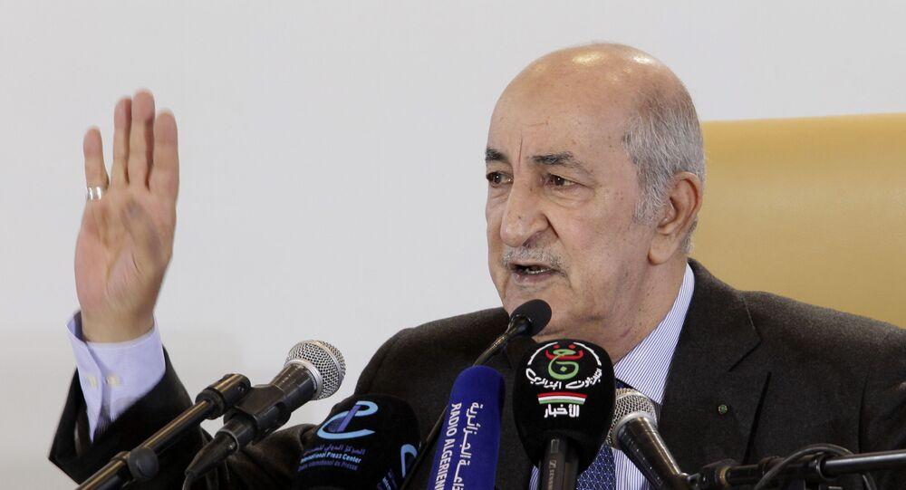 رئيس الجمهورية الجزائري عبد المجيد تبون