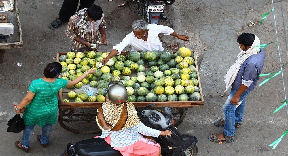 بائع متجور في الهند