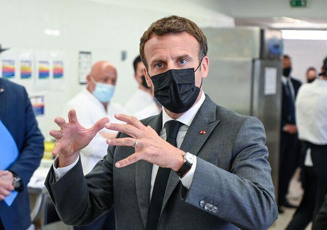 رئيس فرنسا إيمانويل ماكرون