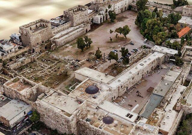 صورة ثلاثية الأبعاد لقلعة دمشق