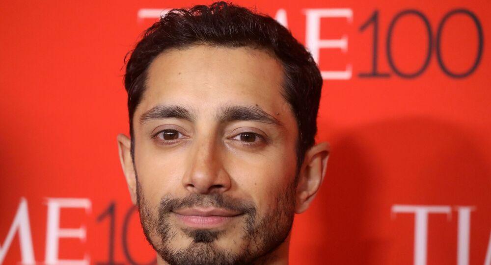 الممثل ريز أحمد خلال لحضور حفل Time 100 في حي مانهاتن في نيويورك، الولايات المتحدة.