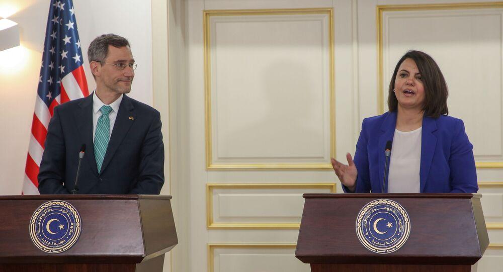 نجلاء المنقوش وزيرة الخارجية الليبية