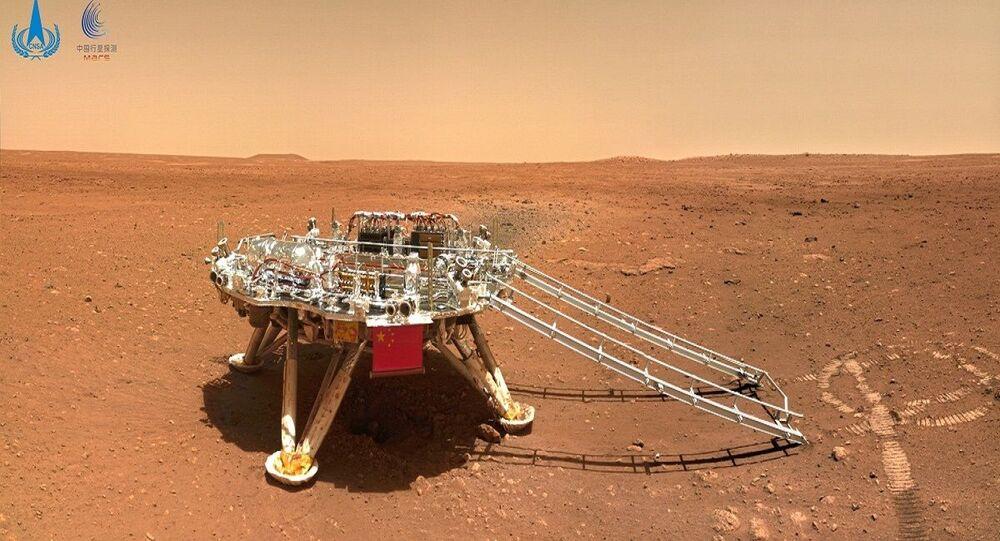 رفع العلم الصيني على المريخ