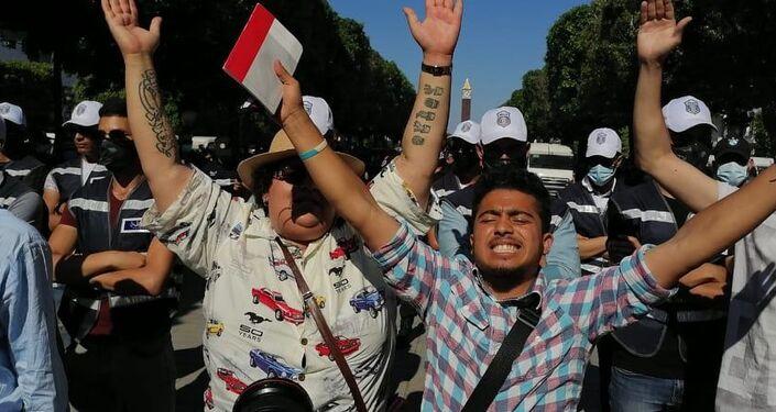مسيرة احتجاجية في العاصمة التونسية