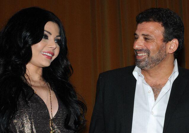 المخرج خالد يوسف والفنانة هيفاء وهبي