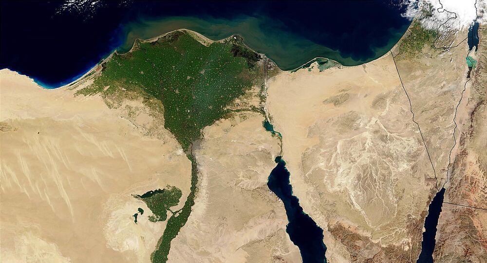 صورة فضائية للأراضي المصرية