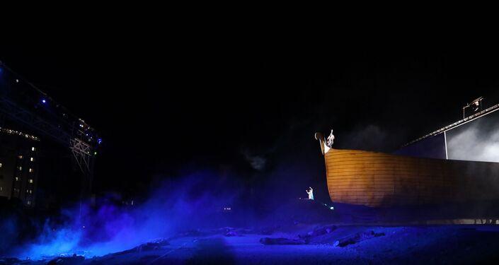 المسرحية التاريخية الميدانية أرض الشمس في مدينة السيدة زينب بريف دمشق في سوريا