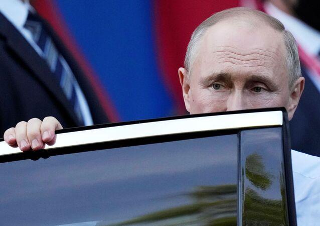 الرئيس الروسي فلاديمير بوتين في قمة جنيف
