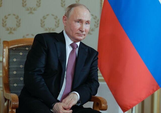 لقاء فلاديمير بوتين مع غاي بارملين في جنيف