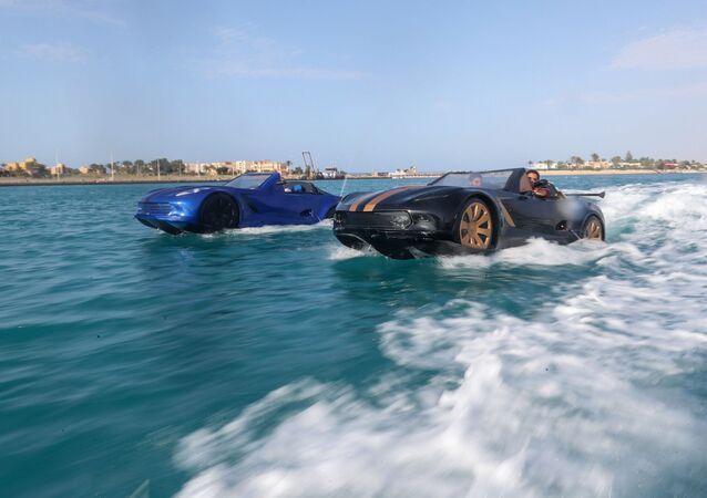 اختراع مصري سيارة تسير على الماء