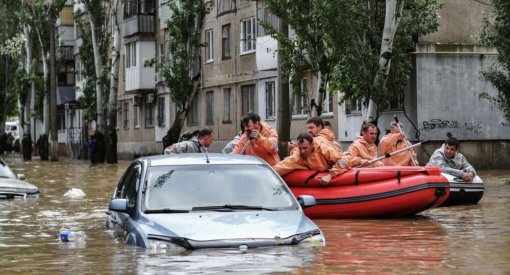 فيضانات كيرتش بسبب الأمطار الغزيرة