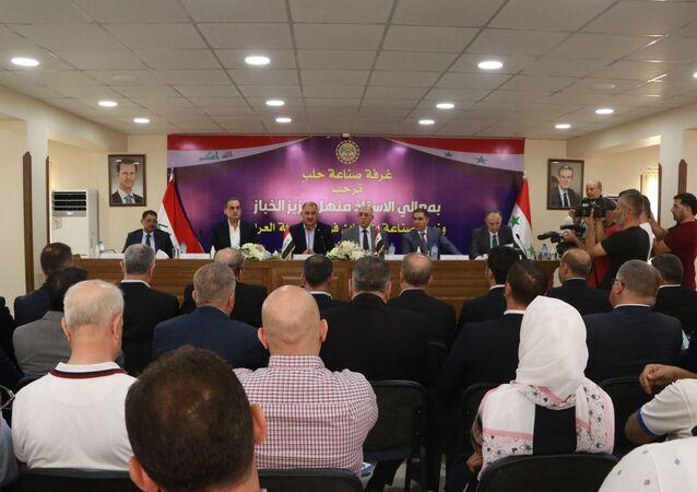 زيارة وزير الصناعة العراقي منهل عزيز الخباز إلى مدينة حلب برفقة وزير الصناعة السوري زياد صبحي صباغ