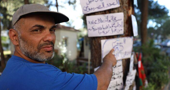فلسطيني يضرب عن الطعام من قلب دمشق