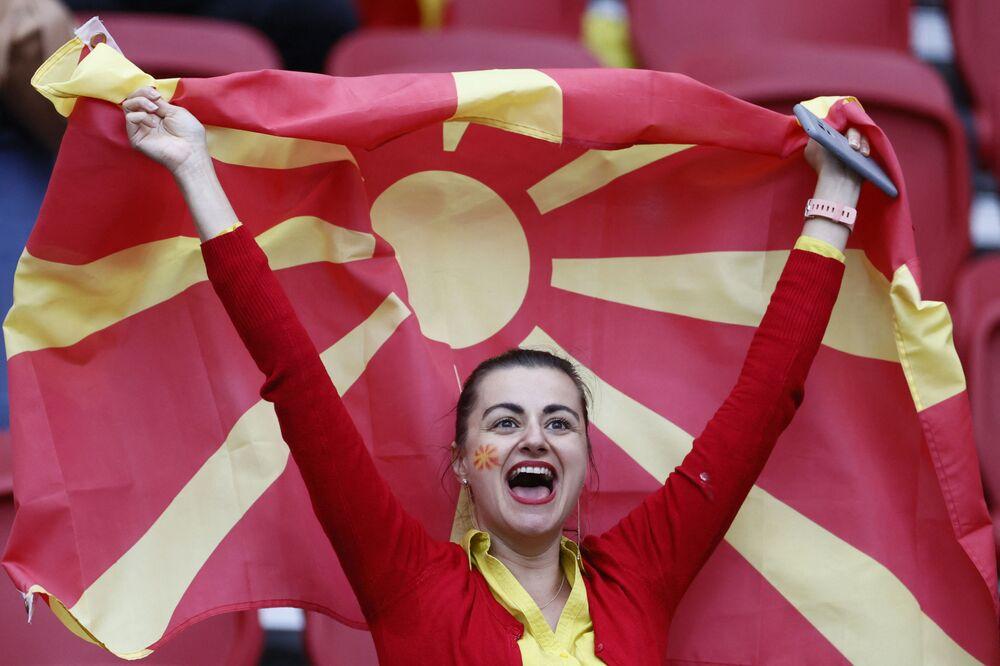 مشجعة المنتخب المقدوني الشمالي