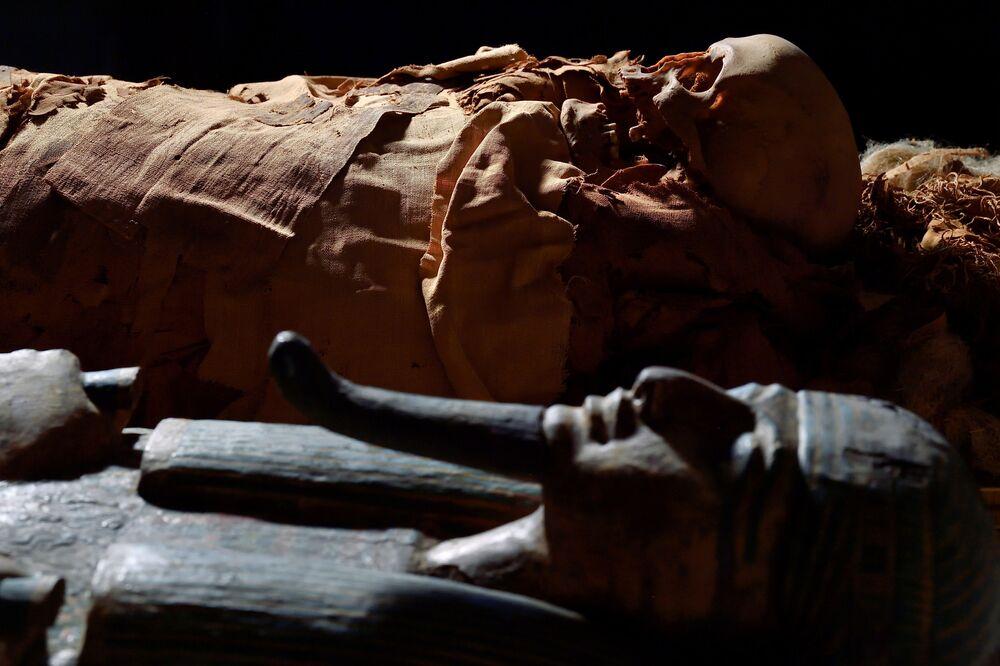 المومياء المصرية في متحف بيرغامو، إيطاليا