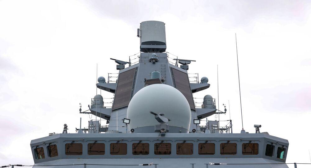 سفينة حربية تابعة للأسطول الروسي