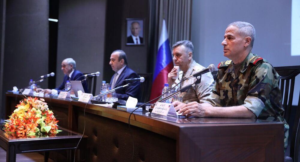 المؤتمر الصحفي السوري الروسي
