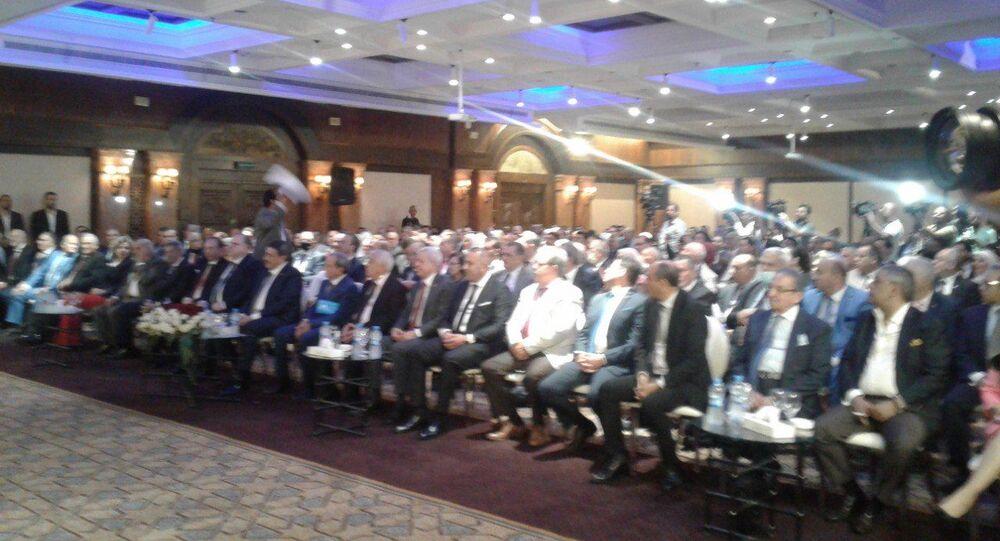 افتتاح أعمال الدورة الأولى للمكتب الدائم لاتحاد المحامين العرب اليوم في فندق شيراتون دمشق في سوريا