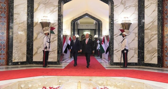 الرئيس العراقي برهم صالح يستقبل نظيره المصري عبد الفتاح السيسي