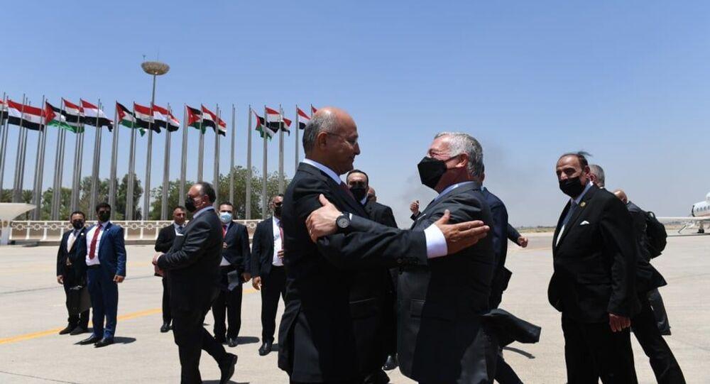 الرئيس العراقي برهم صالح يستقبل الملك عبد الله ملك لاأردن