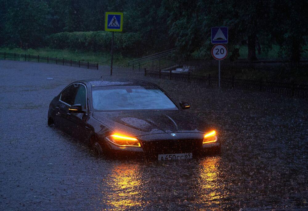 أمطار غزيرة في موسكو