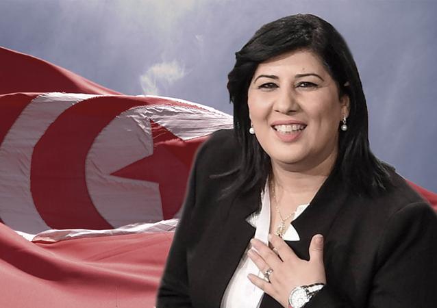 عبير موسي رئيسة حزب الدستوري الحر في تونس