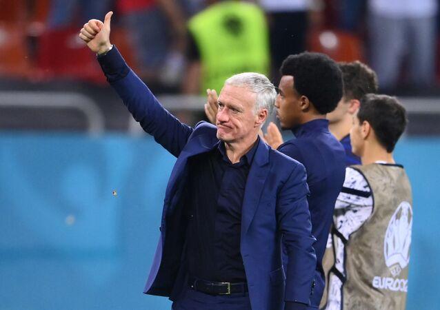 مدرب فرنسا ديدييه ديشان بعد  الخسارة أمام سويسرا والخروج من دور الستة عشر ببطولة أوروبا 2020 لكرة القدم يوم الاثنين