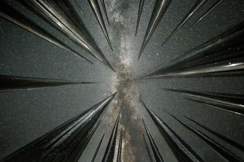 صورة بعنوان تساقط النجوم، للمصور الصيني وانغ جينغ، يدخل ضمن القائمة القصيرة لمسابقة التصوير الدولية مصور المرصد الملكي الفلكي للعام