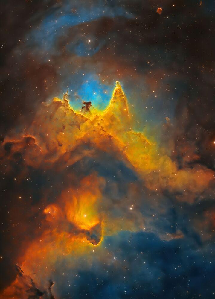 صورة بعنوان روح الفضاء (صورة مقربة لسديم الروح)، للمصور البريطاني كوش تشانداريا، يدخل ضمن القائمة القصيرة لمسابقة التصوير الدولية مصور المرصد الملكي الفلكي للعام