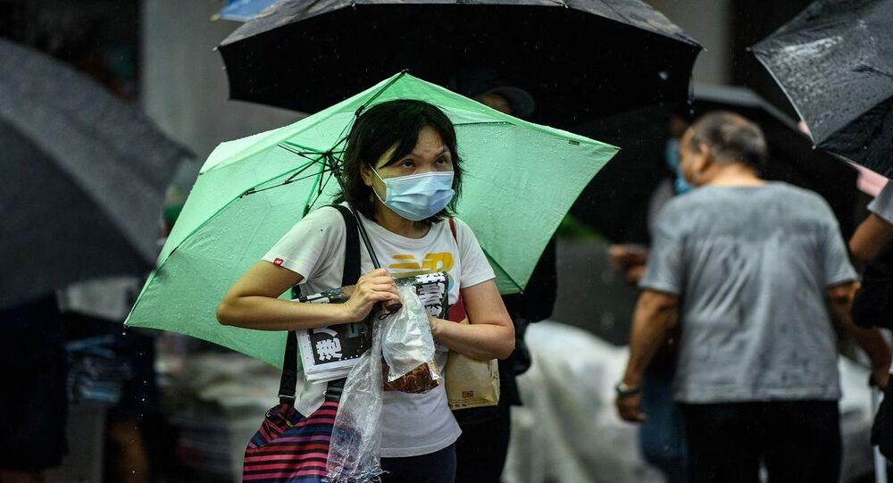 الأمطار في هونغ كونغ