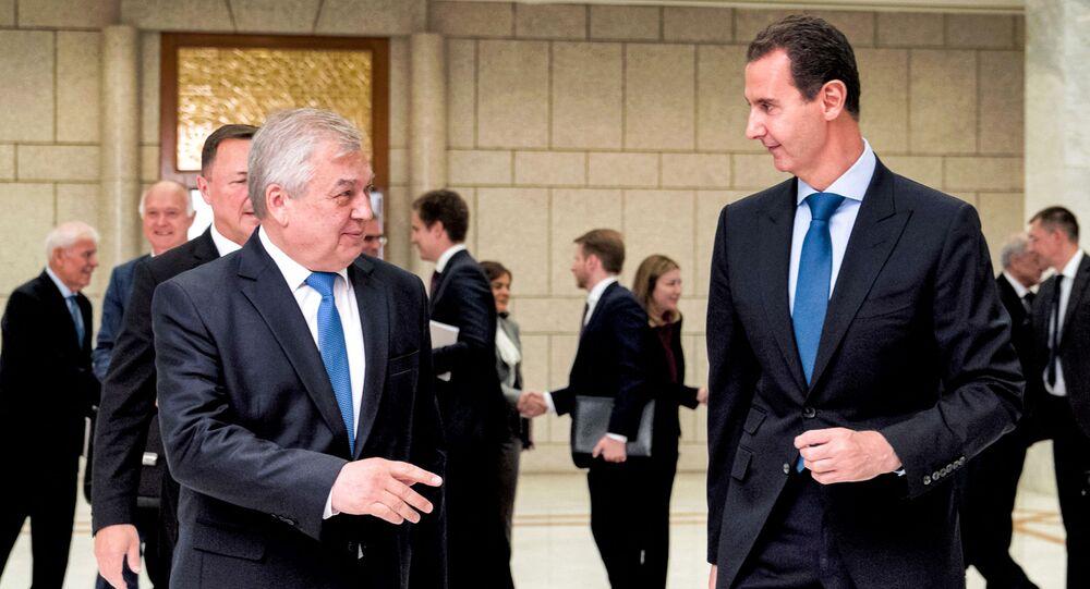 الرئيس بشار الأسد يستقبل ألكسندر لافرينتيف