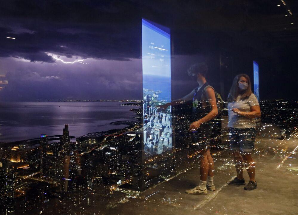 البرق ميشيغان أمريكا