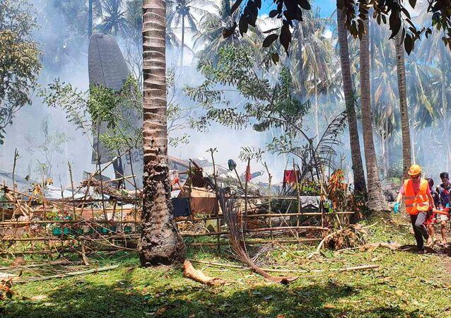 تحطم طائرة عسكرية في الفلبين