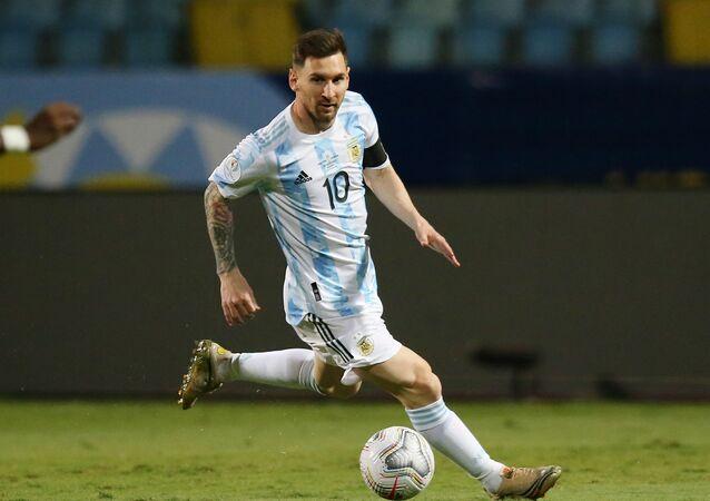 اللاعب الأرجنتيني ليونيل ميسي في كوبا أمريكا