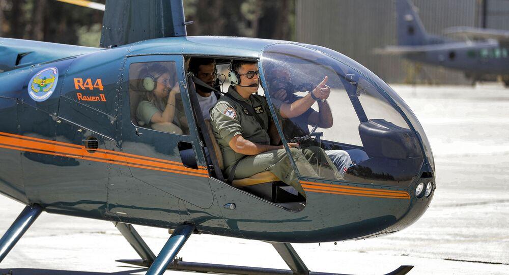مروحية تابعة للقوات الجوية اللبنانية