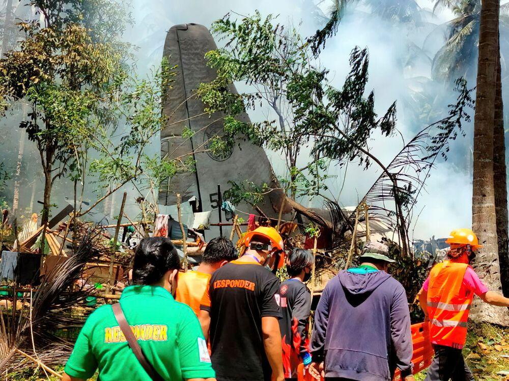 تحطم طائرة تابعة للقوات الجوية الفلبينية