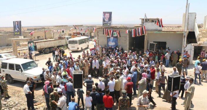 أهالي بلدة الزارة السورية يعودون لمنازلهم بعد سنوات من التهجير بسبب الإرهاب
