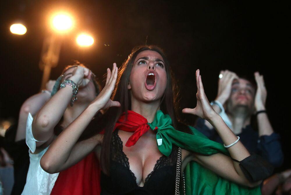 مشجعو المنتخب الإيطالي في روما