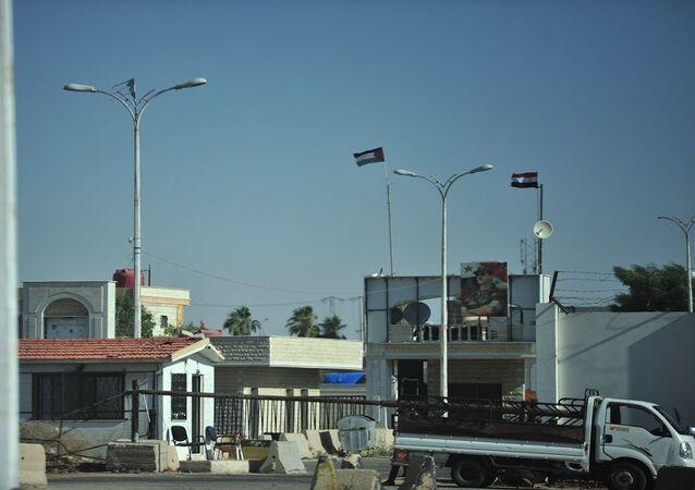 معبر نصيب -جابر الحدودي بين سوريا والأردن