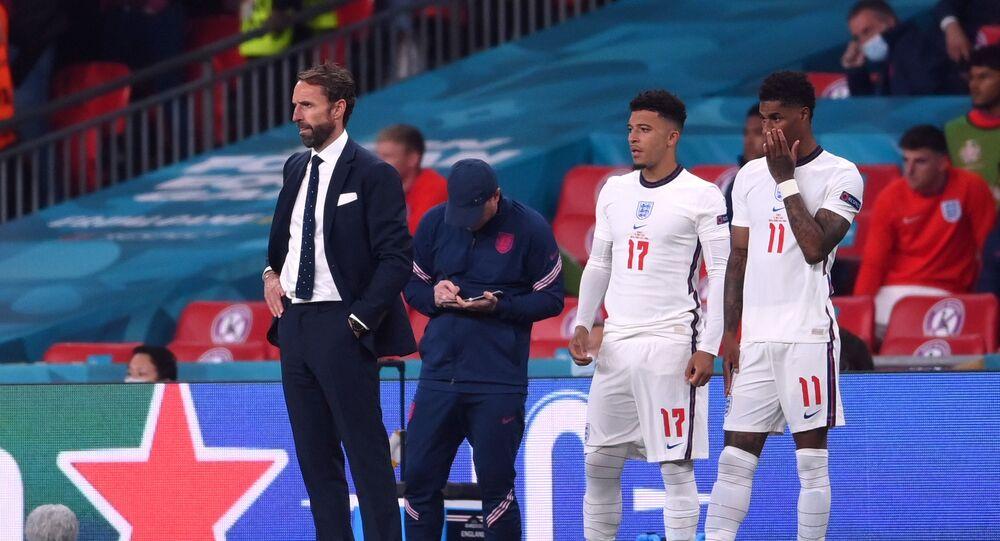 منتخب إنكلترا بعد خسارته يورو 2020