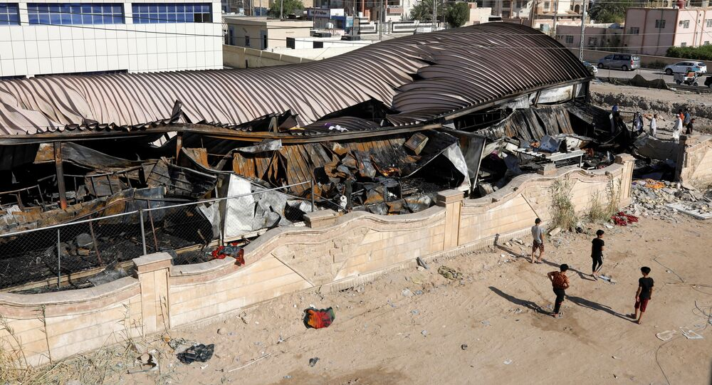 حريق مستشفى الحسين في الناصرية