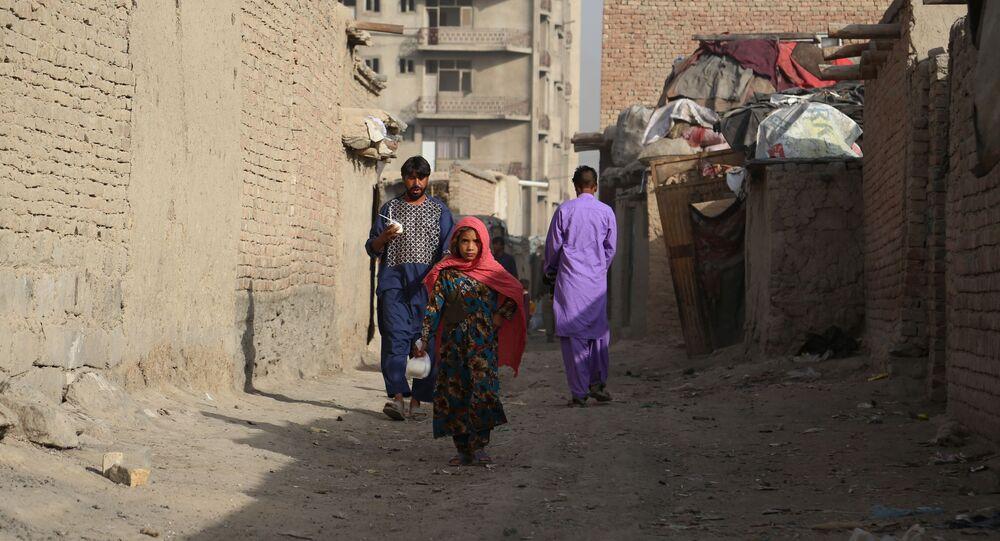 مخيم مؤقت للاجئين في كابول، أفغانستان